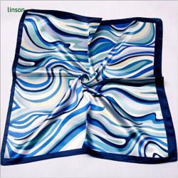 Factory direct air hostess customed digital printing square women silk scarf