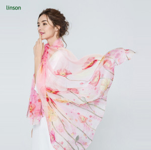 2017 new style new products on china market women digital printing silk scarf