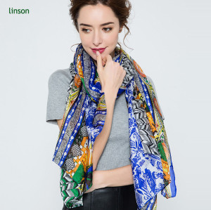 Custom new products on china market women digital printing silk chiffon scarf