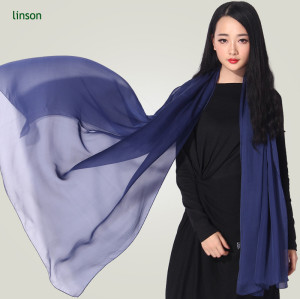 100% Silk China Wholesale Newest Fashion Chiffon Scarves 2017 For Ladies