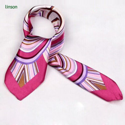 Chinese printing twill silk square scarves 90x90 for office ladies