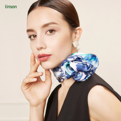 Chinese printing twill silk square scarves