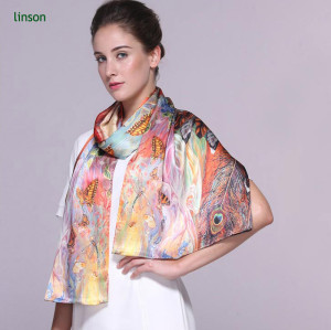 Chinese high end custom printed silk scarves with your own design