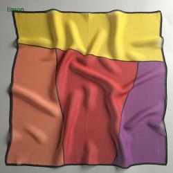 Office ladies small square silk geometric printing scarf