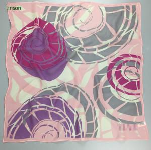 Pink fashion neckwear satin square scarf