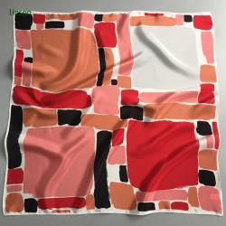 Hongkong style fashion small square digital printing scarf