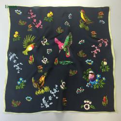 Europe style small fashion customized square digital printing silk satin scarf