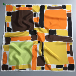 Japan style spring young women digital printing 100 pure silk scarves