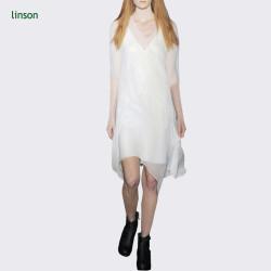 Wedding dress fabric white chiffon 100% silk