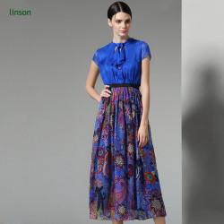 Wholesale high quality custom design digital print silk chiffon fabric for women dress