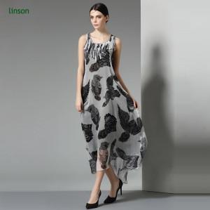 China professional custom digital printing silk chiffon fabric for female dress