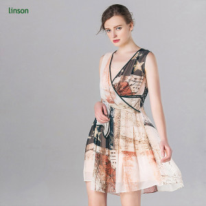 China professional custom digital printing floral chiffon fabric silk
