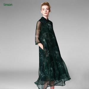 Factory Custom Digital Printed 100% Pure Silk Crinkle Chiffon Fabric