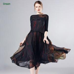 China professional custom digital printing floral chiffon gauze fabric