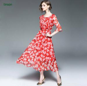 High quality factory direct custom design digital printing red silk chiffon fabric price per meter