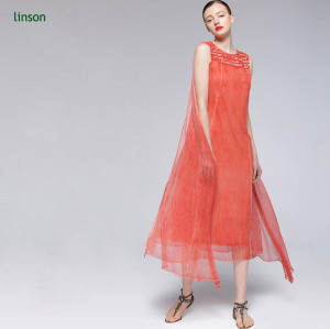 Factory direct custome design solid color silk fabric for ladies dress