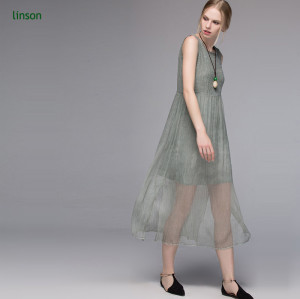 Custome design solid color silk fabric for ladies dress