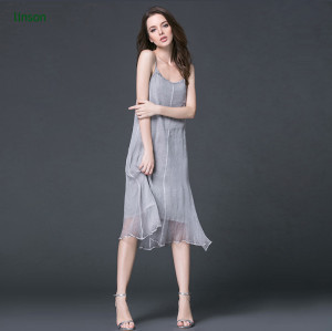 Make to order supply customized solid color silk fabric for ladies dress