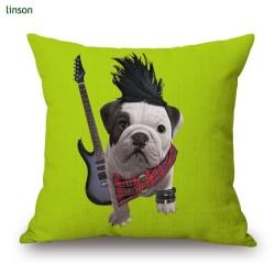 New design custom made animal dog digital printing cushion cover 45*45cm