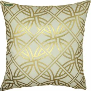 European luxury wash gold geometric cushion cover decoration sofa chair cushion cover wholesale
