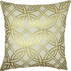 European luxury wash gold geometric cushion cover decoration sofa chair cushion cover wholesale
