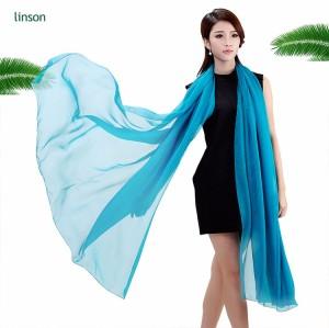 Fashion design solid color plain silk satin scarf