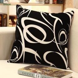 Custom fashion digital printed pure cotton car cushion cover