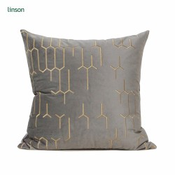 Latest design high quality linen cotton sofa cushion cover customized
