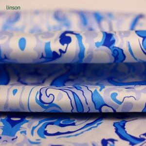 2018 new design cheap price 100% pure silk digital printed silk CDC fabric