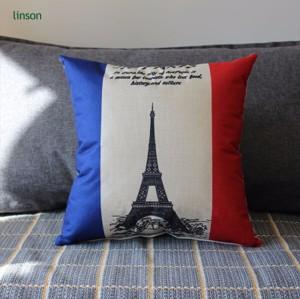 Europe style custom design cotton linen sofa chair cushion cover