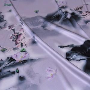 Wholesale factory custom unique design printed stretch silk fabric