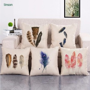 Free sample unique square 45* 45cm home decor cotton linen cushion cover