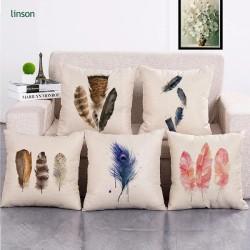 Free sample unique square 45* 45cm home decor cotton linen cushion cover