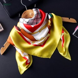 Hot sale high quality 100% silk crepe satin big square scarf
