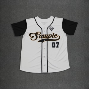Custom made baseball jersey six buttons down