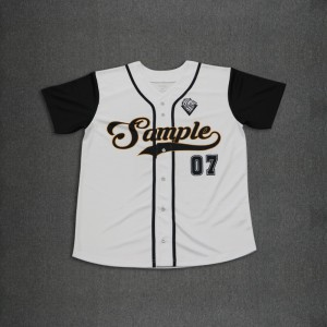 Custom made baseball jersey six buttons down