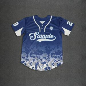 Two buttons camo hem baseball jerseys