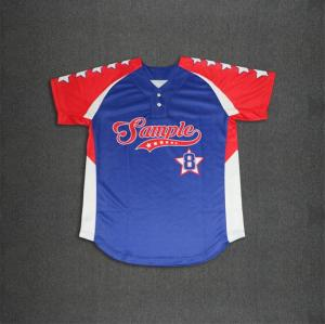 Full sublimated baseball with curved hem