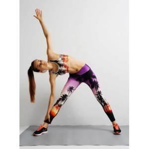 New design allover printed fitness yoga leggings