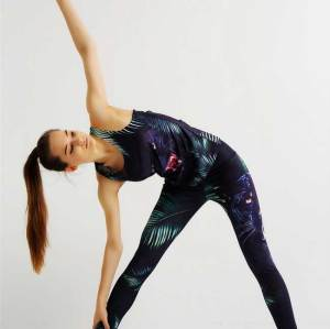 Lastes OEM fitness printed running leggings