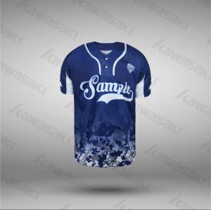 Two buttons camo navy blue baseball jerseys