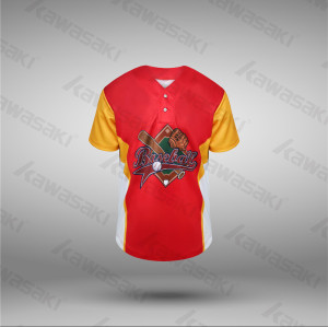World selling customized red and yellow baseball jerseys custom
