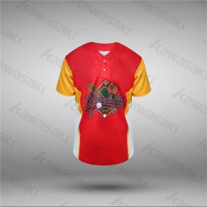 World selling customized red and yellow baseball jerseys custom