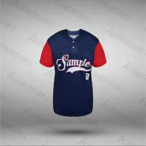 USA sizes baseball jerseys 2 buttons raglan baseball shirts for team