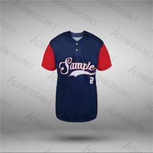 USA sizes baseball jerseys 2 buttons raglan baseball shirts for team