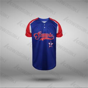 Customized Raglan Shirts Sublimated USA Flag Baseball Jerseys