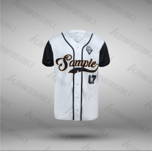 Kawasaki throwback design sublimation printing baseball jerseys