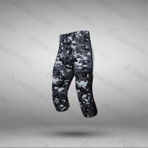 Custom camo american football compression wear pants