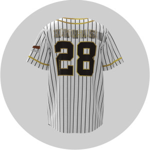 Quick custom tackle twill baseball jerseys in high quality