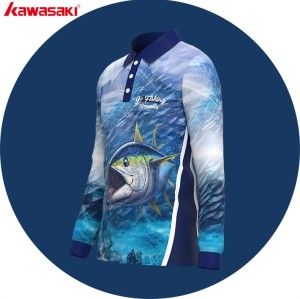 Dye sublimation tournament fishing jersey